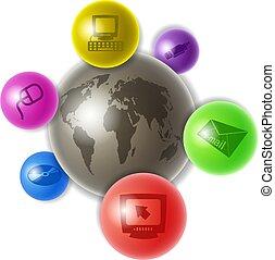 mundo, computadores