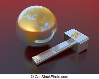 mundo, financeiro, crise