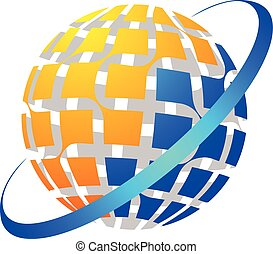 mundo, global, logotipo