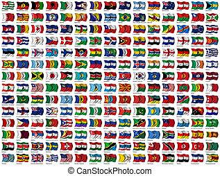 mundo, jogo, bandeiras