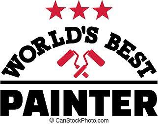mundos, melhor, pintor