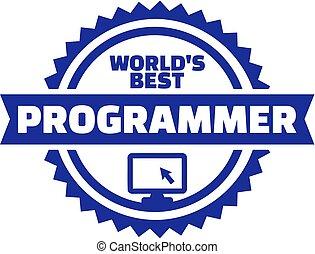 mundos, programador, botão, melhor