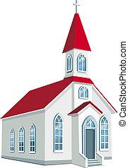 município, pequeno, cristão, igreja