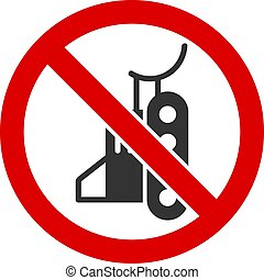 não, apartamento, ícone, vetorial, escavadora