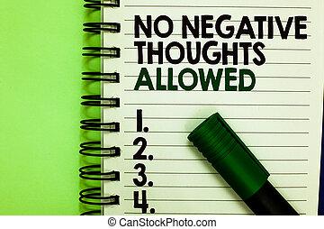 não, vibes, texto, pensamentos, always, positivo, inspirado, significado, conceito, verde, bom, marcador, letras, motivado, allowed., negativo, números, escrito, notepad, letra, colocado, back.