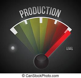 nível, medidor, alto, producao, baixo, medida