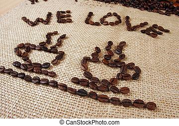 nós, amor, café