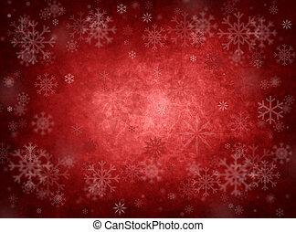 natal, experiência vermelha, gelo