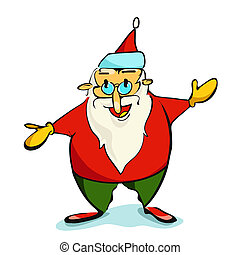 natal, illustration., claus, santa