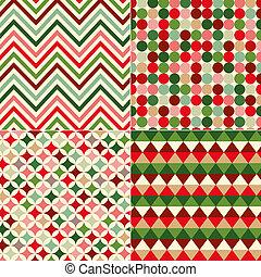 natal, padrão, seamless, cores