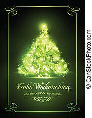 natal, weihnachtskarte, cartão