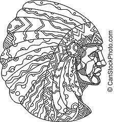 native-american-indian-chief-side-doodle