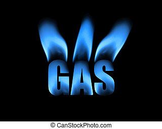 natural, abstratos, gás