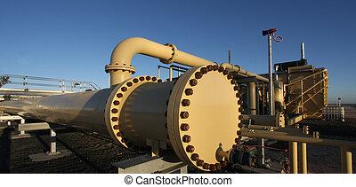 natural, indústria, gás