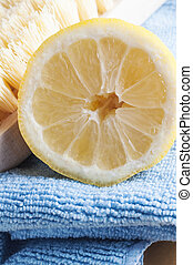 natural, limão, limpeza