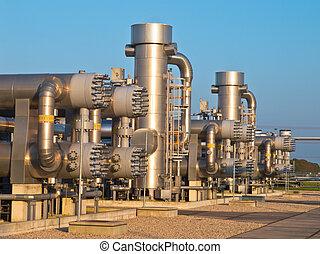 natural, processando, gás, local