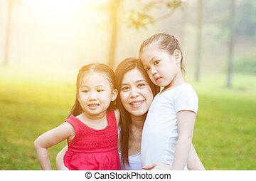 nature., filhas, mãe
