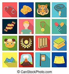 natureza, outro, tecidos, passatempo, ícone, teia, turismo, jogo, collection., competições, style., ícones, apartamento, medicina