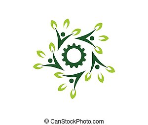natureza, pessoas, vetorial, saúde, modelo, logotipo