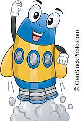 nave espacial, mascote