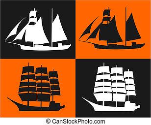 navios, dois