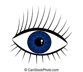navy-blue, olho