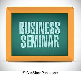 negócio, desenho, seminário, ilustração, sinal