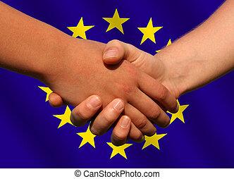 negócio, europeu