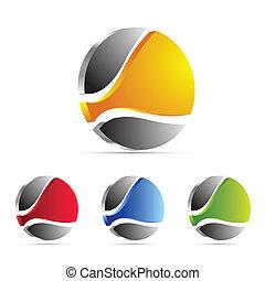 negócio, logotipo, ícone