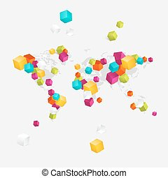 negócio mundo, mapa