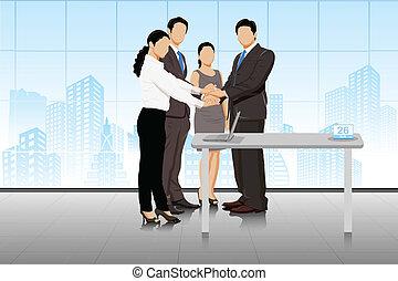 negócio negócio, businesspeople
