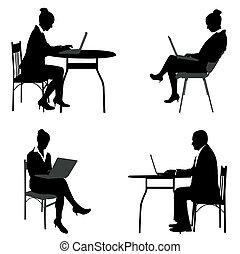 negócio, trabalhe pessoas