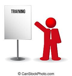 negócio, trabalho, inverter, chart., pessoa, treinamento, homem