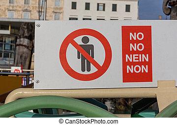 nenhuma pessoas, sinal