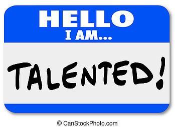 networking, nome, feira, introdução, trabalho, tag, olá, talentoso