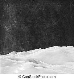 neve, 3d, fundo, grunge, textura