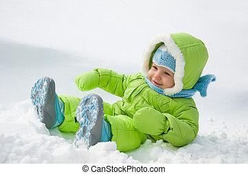 neve, criança