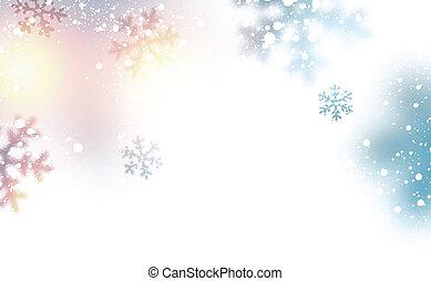 neve, natal, experiência.