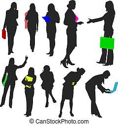 no.2., pessoas, -, mulheres negócio