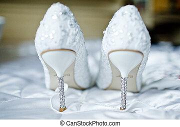 noiva, sapatos, casório