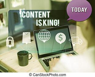 non, conceito, king., texto, busca, visibilidade, escrita, conteúdo, crescendo, significado, focalizado, pago, marketing, results., letra