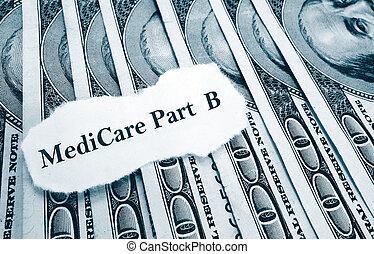notícia, medicare, b, dinheiro, parte