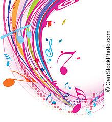 nota, música, fundo