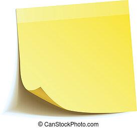 nota, vara, amarela