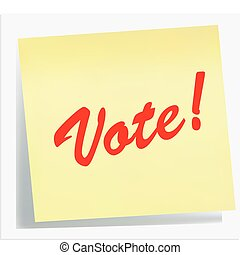 nota, vote!, lembrete, -