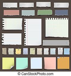 notas, papel, vário, cobrança