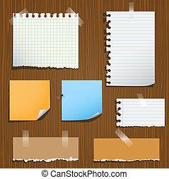 notas papel