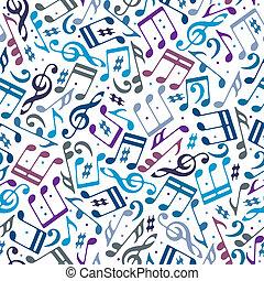 notas, pattern., musical, seamless