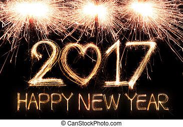 novo, 2017, feliz, ano