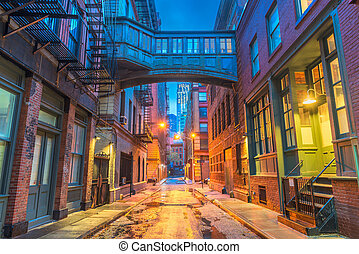 novo, alleyways, york, cidade